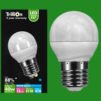 5.5W LED Warm White 2700k Round Golf Ball Light Bulb ES E27 Edison Screw Lamp