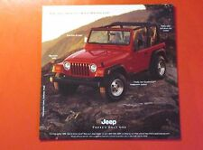 1997 JEEP WRANGLER SHOWROOM/AUTO SHOW HAND OUT..  8 PAGE FOLDOUT