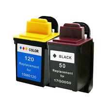 Lexmark 20 50 Ink Cartridge Black Color P3150 P707 Z705 Z715 P3120 - 2 Pack
