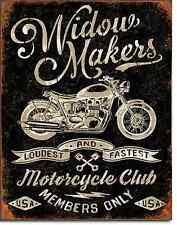 Widow Makers Motorcycle Club TIN SIGN metal ad poster bar garage wall decor 2076