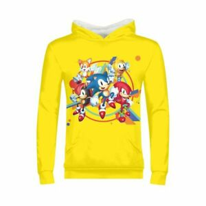 The Hedgehog Sonic Boys Girls Hoodie Long Sleeve Pullover Shirt Sweatshirt Gifts