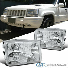 93-98 Jeep Grand Cherokee Replacement Clear Headlights Head Lights Lamps Pair