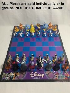 U-PICK Disney Chess Collector's Edition Heroes and Villians pieces/parts
