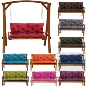 Luxury  Replacement Cushions 1-4Seater Garden Swing Bench Chair Seat+Backrest