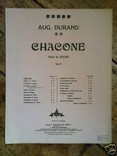 piano AUGUSTE DURAND op.62 chacone