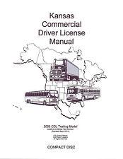 COMMERCIAL DRIVER'S MANUAL FOR CDL TRAINING (KANSAS) ON CD IN PDF PROGRAM.