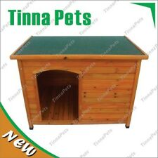 Brand NEW X-Large117*82*86cmLog Cabin Timber Pet Dog Kennel House p016