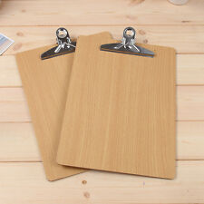 Wooden A4 File Paper Clip Record Writing Board Document Clipboard Office Supply