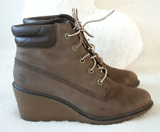 88a4dd17725319 Timberland Earthkeepers Amston Womens Wedge Brown Suede Leather 8252A Eco  7UK