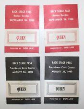 Queen 4 Original Backstage Pass Passes Boston Garden Providence Civic 1980