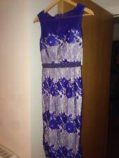 Ladies Little Mistress BNWT Size 8 Blue/nude Dress