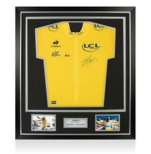 Bradley Wiggins Signed Yellow Tour de France Jersey In Classic Frame