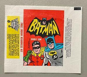 1966 Topps Batman 5 Cent Wax Pack Wrapper