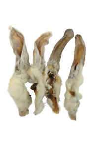 Rabbit Ears Natural with fur Hair Hypoallergenic Dog Treat Chew