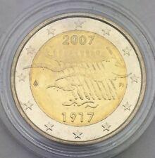 Pièce 2 euros 2007 Finlande sous capsule