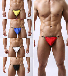 Mens Muscle Posing Beach Pouch Underwear, Tanga Brief S, M,L,XL UK FAST POST