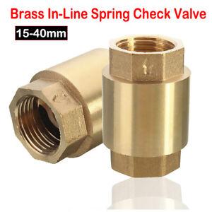 Spring Check Valve - 15/20/25/32/40mm - Brass -Non Return Valve