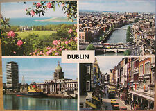 Irish Postcard DUBLIN MULTIVIEW Howth Liffey Custom House Grafton John Hinde 299