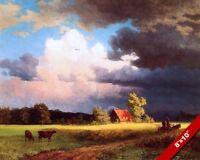 THE BAVARIAN FARM GERMANY GERMAN LANDSCAPE OIL PAINTING ART PRINT REAL CANVAS