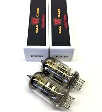 Matched Pair ECC83  12AX7 New Valve Tubes Gold Class Made By Shuguang China