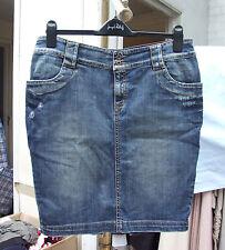 TWIN SET Hecho en italia Jeans Mezclilla Azul Falda Por La Rodilla Uk 12 ish