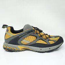 Merrell Mens Overdrive 83991 Grey Orange Running Shoes Drawstring Low Top Sz 10