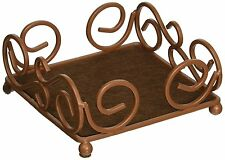 Thirstystone Square Scroll Brown Wrought Iron Coaster Holder for Thirstystone 4-