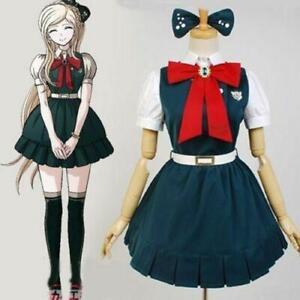 Super Dangan Ronpa 2 Sonia·Nevermind Cosplay Costume School Dress TUTU Skirts sz