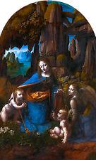 Leonardo da Vinci, Virgin of the Rocks, Madonna, Art Museum Poster, Canvas Print