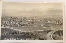 Bozeman Montana Birdseye View Real Photo Postcard VINTAGE POSTCARD