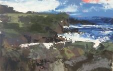ORIGINAL MARTIN STONE Wild Atlantic III Cork IRELAND IRISH COAST OIL PAINTING