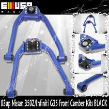 1Pair Front Upper  Camber Arm fit 2003-2007 Infiniti G35 Base Coupe 2D BLUE