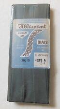 Ancien biais en nylon gris 5m ruban, mercerie - couture