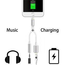 iPhone 8/8 Plus Cargador Cable adaptador Lightning 3,5mm aux auricular Cargador