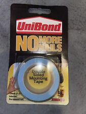 Unibond No More Nails Double Sided Wall Hanging Mounting Tape Roll Blue