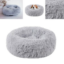 Pet Dog Calming Bed Soothing Warm Plush Sleeping Cushion Cute Puppy Mat 3Colors