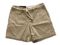 Merona Shorts w/ Twisted Rope Look Belt Flat Front Pockets Beige Size 2 NWT