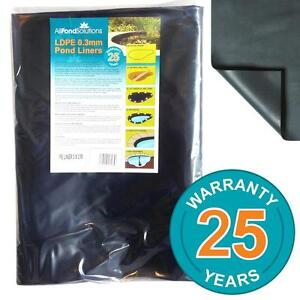 Pond Liners - LDPE 0.3mm Pond Liner - Choose from 10 Sizes - 25 Year Warranty