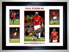 PAUL POGBA MANCHESTER UNITED PHOTO COLLAGE SIGNED PRINT ONLY OR FRAMED