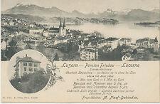 SCHWEIZ LUZERN, 1910 PENSION FRIEDAU ungebr. Kab.-AK (E. Goetz No. 2701), RR!!