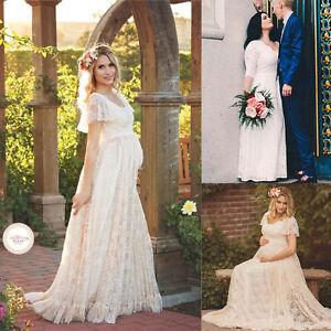 Princess Maternity Dress Photography Props Lace Pregnant Women Long Pink Skirts