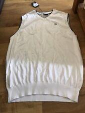 REDUCED - BNWT DUNLOP MENS WHITE-KNIT GOLF SLEEVELESS JUMPER (XL) -  RRP £42.99