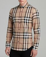 BURBERRY BRIT MENs SHIRT CAMEL New with tags