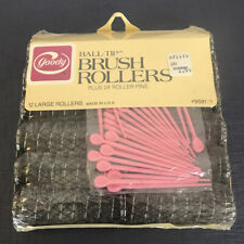 "Vintage Goody 9581/1 Ball Tip Brush Rollers Pack 12 Pack large 7/8"" Made in USA"