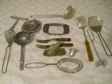 Vintage Lot of 14 Pieces Kitchen Utensils Primitive