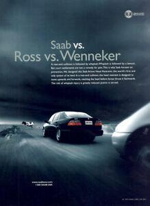 1999 Saab: Ross Vs Wenneker Vintage Print Ad