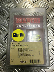 Genuine Bianchi MoD Military / Police Tan Open Magazine Ammo Pouch Model 20A NEW