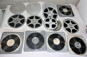 10 films ancien boite métal projecteur 8mm vintage 60s  Maroc Sicile Rome Naples