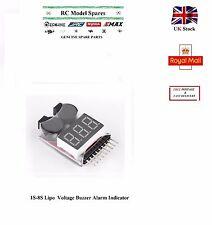 Voltage Indicator for 1-8S Lipo LiFe Li-ion Battery Monitor Buzzer Alarm RC Part
