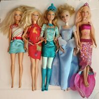 (1999 )  BARBIE DOLLS- MATTEL--LOT of 5